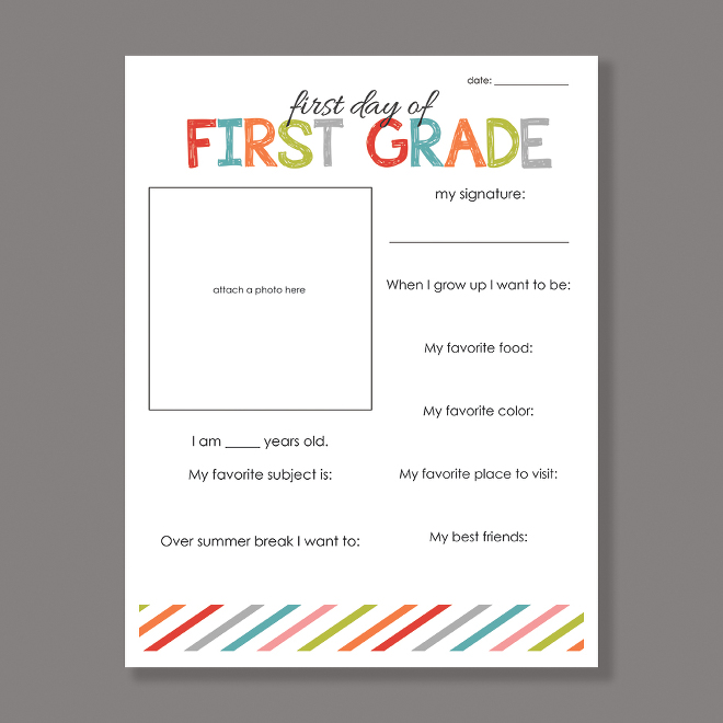 first day of school free printable - School Worksheets To Print For Free
